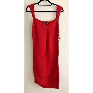 Ozzurs Womens Sexy Summer Bodycon Dress Size L Red